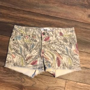 Paige Size 27 Feather Shorts